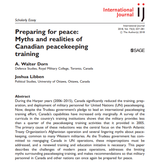Preparing for peace FirstPage Abstract IJ 2018